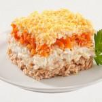 Рецепт приготовления салата Мимоза с сайрой