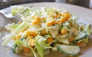 Технология приготовления салата со свежими огурцами
