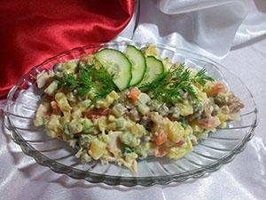 Салат зимний рецепт с колбасой