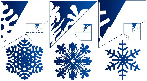Схема снежинки палочками