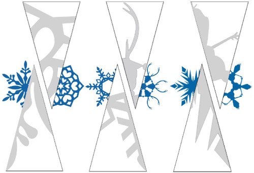 Схема снежинок по мультику холодное сердце