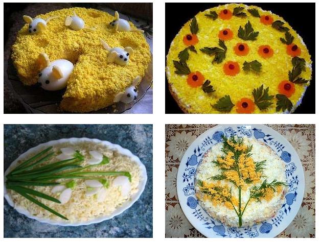 Варианты украшение блюда вручную