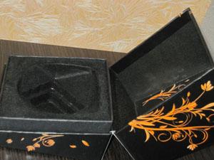 Бархатная упаковка духов с феромонами