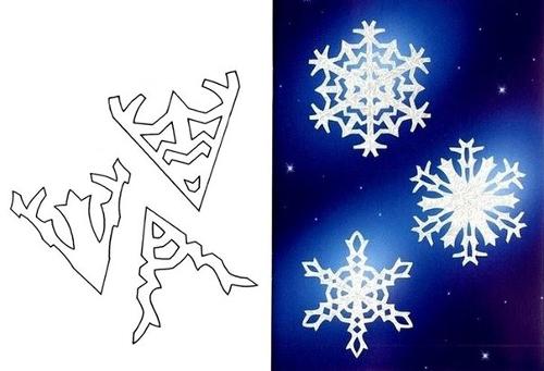 Схема нескольких снежинок