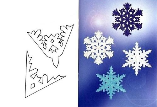 Схема узоров снежинок