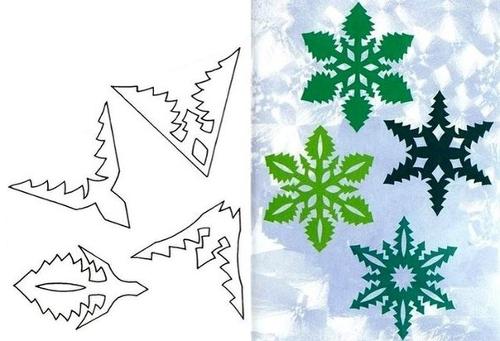 Узорная снежинка - схема