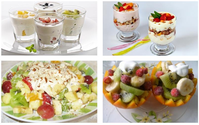 Салат с йогуртом вкусный
