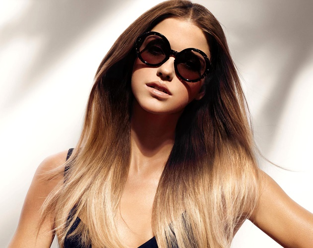 Омбре на русые длинные волосы