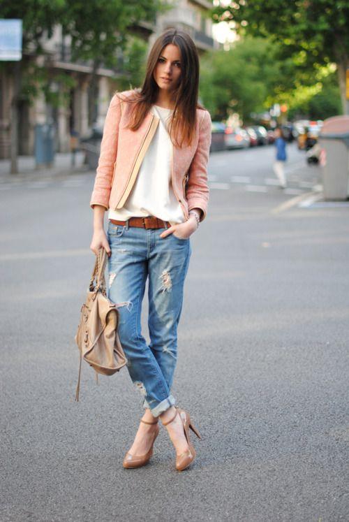 С чем носить джинсы бойфренды - фото