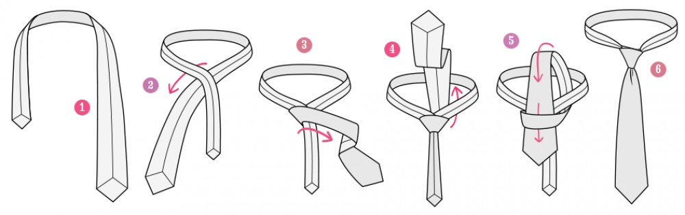 Как красиво завязать женский галстук