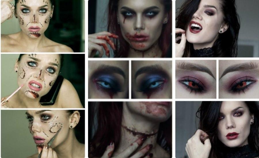 Домашний макияж на Хэллоуин