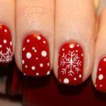 Зимний маникюр на короткие ногти: фото
