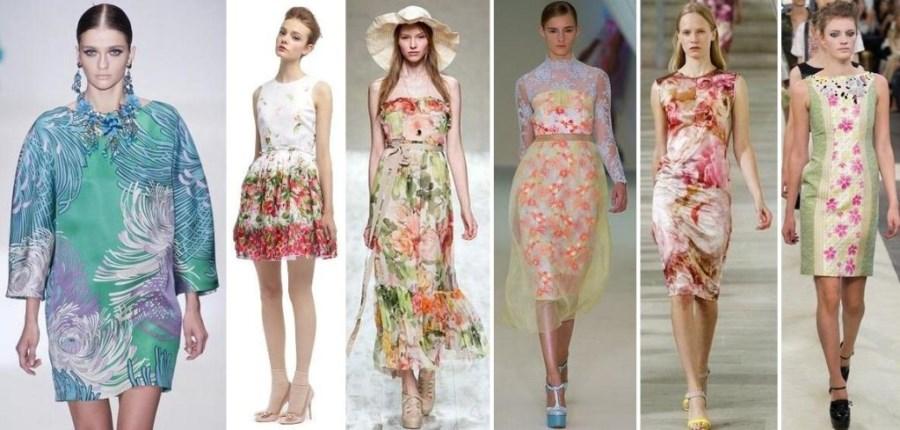 Модные платья весной