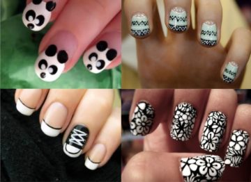 ногти в черно белом стиле фото