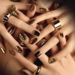 Черно-золотой дизайн ногтей: фото