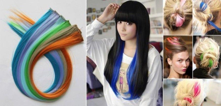 Окрашивание волос в яркие цвета