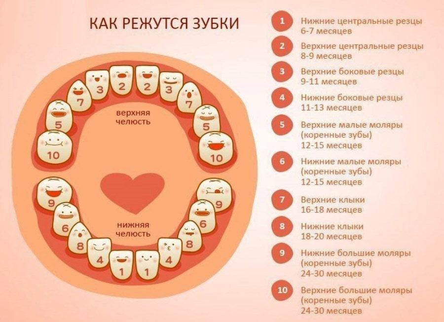 Первые признаки прорезания зубов у младенцев