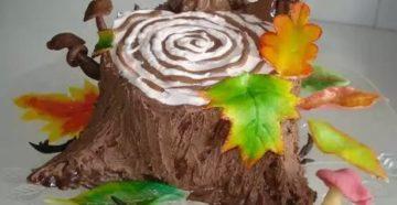 Пошаговый рецепт торта Трухлявый пень