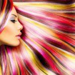 Окрашивание волос в яркие цвета: фото