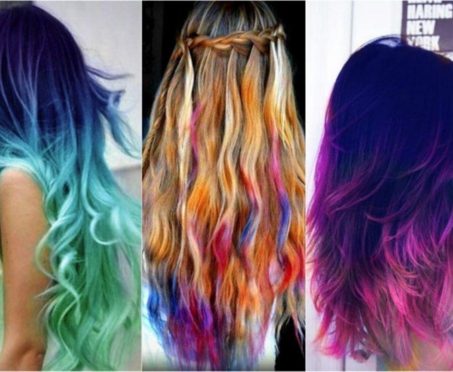 Фото яркого окрашивания волос