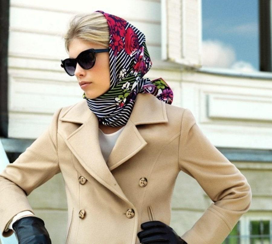 Как красиво завязать платок на голове