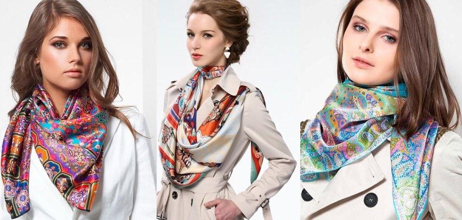 Модные платки на весну