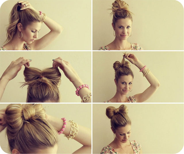 Как сделать бант из волос своими руками