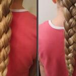 Схема косы из 4 прядей для самостоятельного плетения
