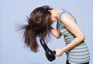 Сушка волос феном для придания объема