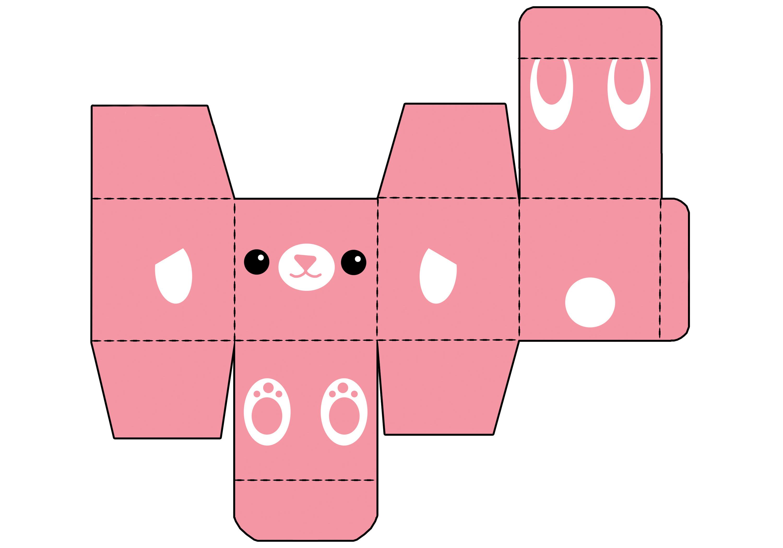 Японский милый зверь в виде коробки