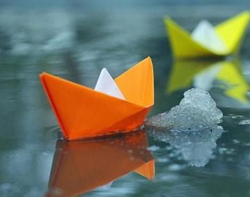 оригами делаем кораблик из бумаги