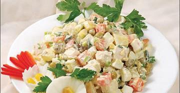 готовим салат оливье