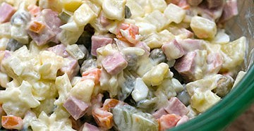 классический рецепт салата оливье с колбасой