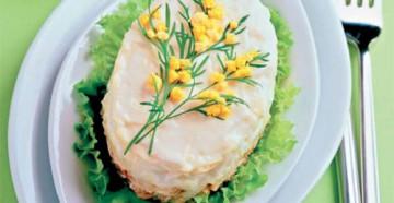 салат мимоза с горбушей вкусно