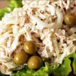 Готовим блинный салат с курицей