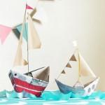 Как сделать бумажный кораблик своими руками: схемы простого судна, парохода и парусника