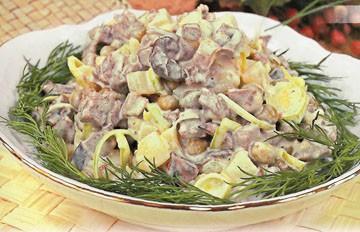 классический рецепт приготовления мясного салата