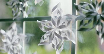 простые и красивые схемы для вырезания бумажных снежинок