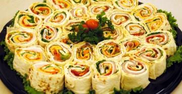 вкусные блюда из тонкого лаваша на праздничный стол
