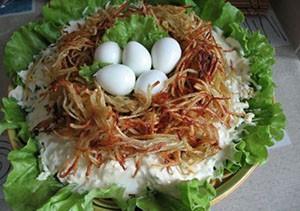 Гнездо Глухаря Салат Рецепт Классический изоражения