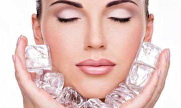 Протирать лицо льдом - это польза
