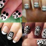 Черно-белый дизайн ногтей: фото