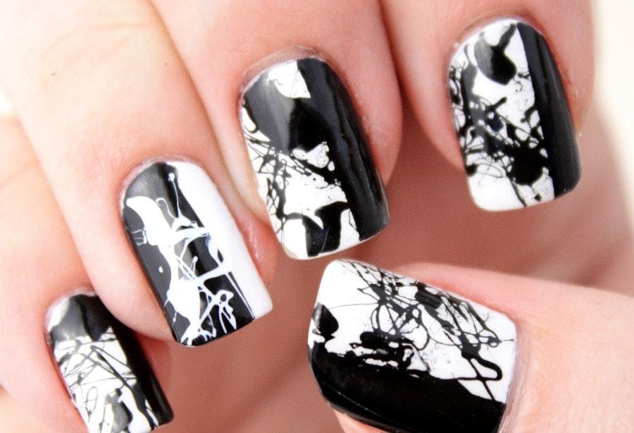 скатерть черно белая картинка дизайна ногтей нашей