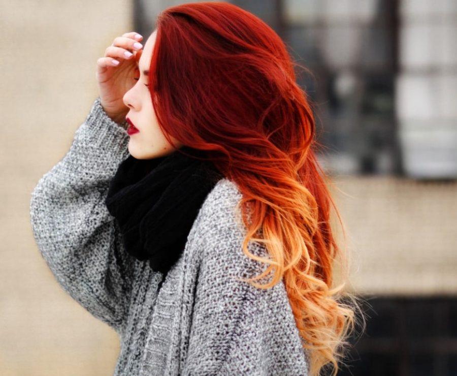 Фото окрашенных волос в яркий цвет