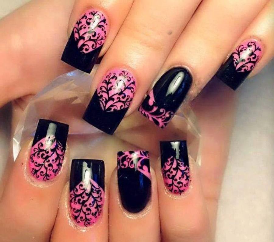 растения незаменимы ногти розовый с черным фото дизайн картинки открытом воздухе части