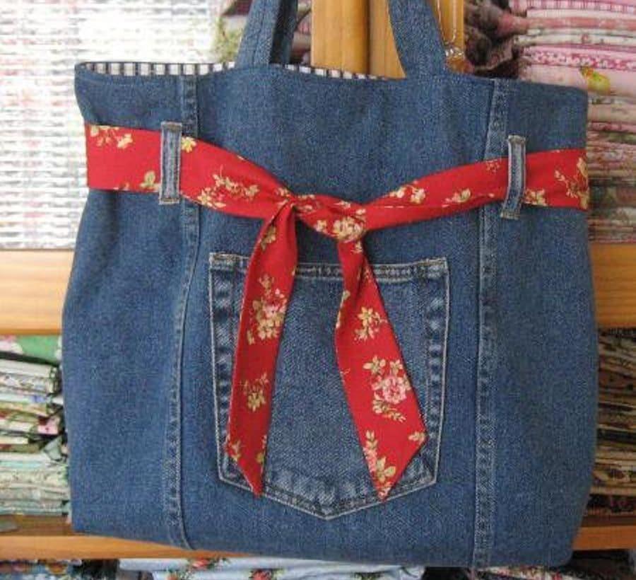 Сумочка из джинсов своими руками